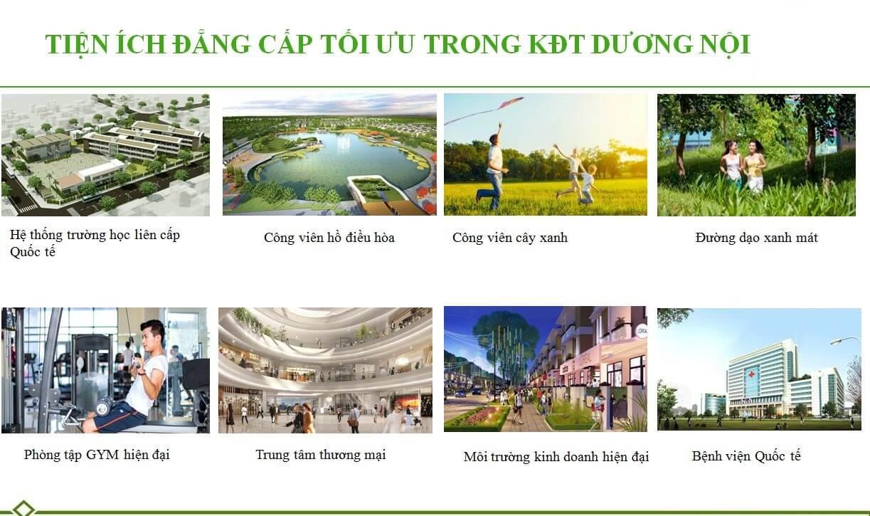 Tiện ích nội khu trong biệt thự An Vượng Villa nói riêng và KĐT Dương Nội nói chung