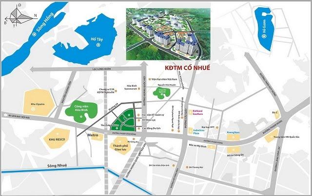 Vị trí khu đô thị mới Cổ Nhuế