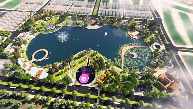 Vị trí biệt thự An Vượng tiếp giáp với công viên Thiên Văn Học